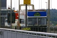 forth bridge crashed bus JUIN JUNE 2007 copyright free photo royalty free photo