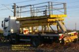network rail railtract lorry truck tower platform hydraulic railway railroad wheels mars march 2008 copyright free photo royalty free photo