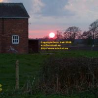 beautiful sunset betchton sandbach april 2008 avril copyright free photo royalty free photo