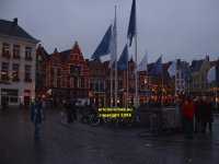 Buildings along the north side of the Markt Bruges Belgium copyright free photo royalty free photo January 2007
