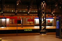 Double deck railway carriages Cologne Köln Koeln Germany Deutschland copyright free photo royalty free photo