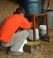 Guidestone Farm, Loveland Colorado - Biodiesel Course from the Solar Energy Institute. Draining out the glycerine.